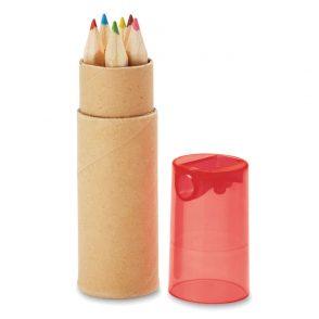 6 Crayons couleurs tube cartonné