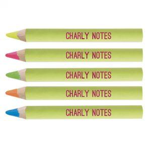 Crayon de bois fluo 8.7 cm