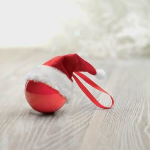 Boule Noël Chapeau père Noël en coffret