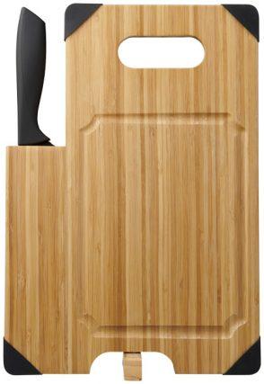 Planche à découper en bambou avec couteau,