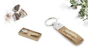 porte-clé métal liège en coffret