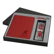 Coffret cadeau stylo bille porte-mines, lampe LED, bloc notes