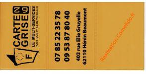 Porte-cartes grises Réalisation Imaction/CoeKdo