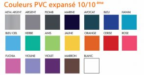 Couleurs disponibles pour le PVC expansé 10/10