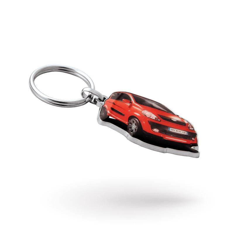Porte-clés sur mesure métal imprimé avec epoxy en zamac