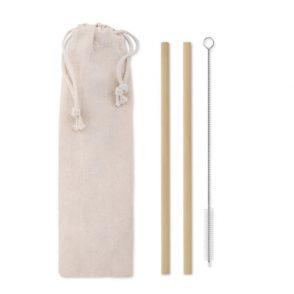 Paille réutilisable en bambou Comekdo