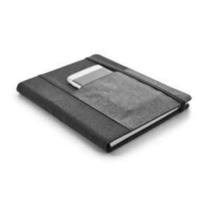 Bloc-notes avec couverture rigide couverture tissu