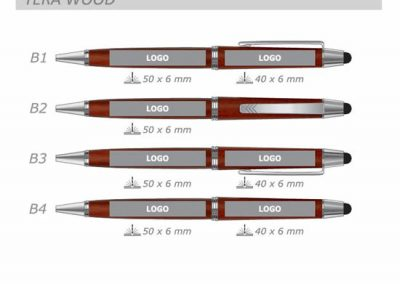 Marquage su stylo Tera Wood