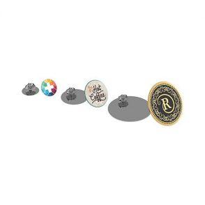 Pins metal rond doming bord à bord