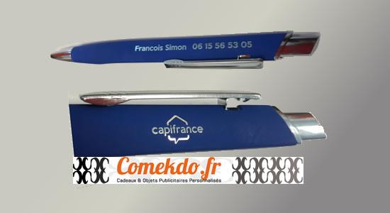 Imaction ComeKdo réalisation stylos Capifrance