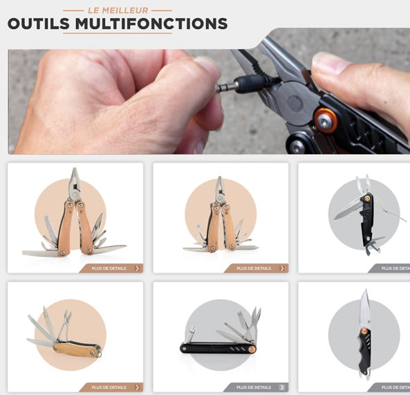 Catalogue outils multifonctions