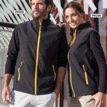 Bodywarmer Soft-Shell 2 couches Mixte Gamme Black&Match